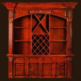 Держателя вина 12 бутылок шкаф деревянного деревянный (GSP19-017)
