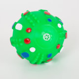 Giocattolo stridulo dell'animale domestico del giocattolo del vinile del cane di figura della sfera della mina terrestre