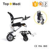 Cadeira de rodas transportável de pouco peso Foldable de alumínio da energia eléctrica de Topmedi