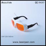 Trasmissione 50% dell'indicatore luminoso visibile & occhiali di protezione del laser del O.D5+ @200-540nm per l'eccimeri, ultravioletto, laser verde tipico per 532nm