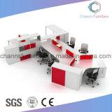Weiße Abgleichung-roter Melamin-Büro-Möbel-Aufgabe-Schreibtisch-moderner Entwurfs-Arbeitsplatz