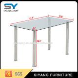 現代食事の家具の金属の足正方形のガラス表