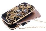 sacchetto di sera di cristallo di sera di 20cm della frizione della borsa della catena della flora del diamante Handmade del progettista