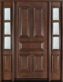 Porte extérieure en bois solide d'entrée de panneau de l'acajou 6 d'Overside de villa (GSP1-037)