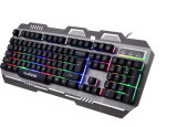 Верхняя продавая клавиатура игры с конструкцией металла (KB-906EL-C)