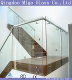 Pasamano de cristal de Frameless, 10m m 12m m 15m m vidrio endurecido/Tempered de 19m m