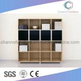 Черный шкаф офисной мебели книжных полок цвета