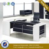 Mobília de escritório executivo lustrosa do pé do metal da L-Forma da tabela do escritório (NS-NW115)