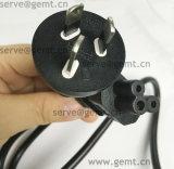 Шнур питания Pin штепсельной вилки 3 Австралии плоский с проводом выдвижения разъема электрическим