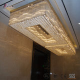 Illuminazione di cristallo di ospitalità per la decorazione dell'hotel