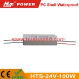 bloc d'alimentation imperméable à l'eau de la tension 24V-100W de l'interpréteur de commandes interactif continuel DEL de PC