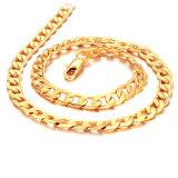 Подгонянное ожерелье цепи покрынной меди золота 18k