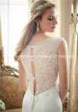 Mori Lee erstaunliche wulstige sehen durch Schlüsselloch-rückseitiges Nixe-Trompete-Schleife-Serien-Hochzeits-Kleid (Dream-100093)