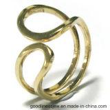 여자를 위한 쉘 진주를 가진 925 순은 보석 반지는 둥글게 된다 (R10700)