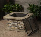 ciotola esterna del pozzo del fuoco dei tesori del giardino 29inch con lo sguardo di pietra