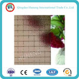 6.5mm Couleur grise Nashiji Wired Pattern Glass
