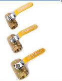 Vendiendo la vávula de bola de cobre amarillo fija de la alta calidad (EM-V-113)