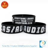 Wristbands выдвиженческого способа OEM изготовленный на заказ резиновый