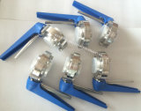 Válvula de mariposa sanitaria del acero inoxidable 316L de la alta calidad 304