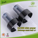 Spruzzatore fine di plastica nero della foschia con 22/400 di collo