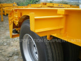 3axles Lowbed/da plataforma reboque Semi