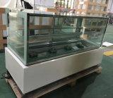 팬 대리석 기초 (R740V-M2)를 가진 냉각 케이크 상점 냉장고 내각