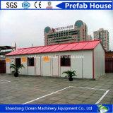 Casa pré-fabricada da casa modular móvel rápida do conjunto do material de construção leve da construção de aço