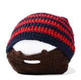 Chapéu da barba do Knit com barba destacável