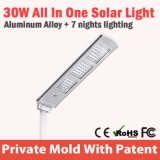 lampada solare Integrated tutta dell'indicatore luminoso di via di 20W LED in una