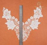 Шнурок ворота шнурка гипюра ткани вышивки вспомогательного оборудования одежды индийский