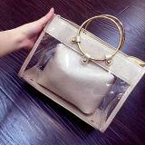 Neue Form-spezielle Entwurfs-Frauen-Handtaschen, die Damen PU-Zehe-Beutel mit rundem Metallring Sy8541 neigen