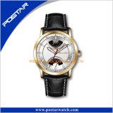 Compléter la montre-bracelet imperméable à l'eau de quartz multifonctionnel de guichet de date civile