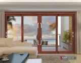 Couleur en verre en aluminium de blanc de porte coulissante de case et de patio