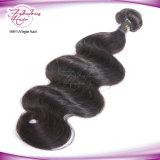 Armure 100% de cheveu de vente en gros d'onde de corps d'extensions de cheveux humains de Vierge