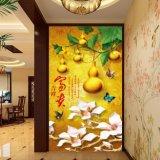 Het digitale Afgedrukte Chinese Olieverfschilderij van de Pompoen & van de Pioen voor de Decoratie van de Vestibule
