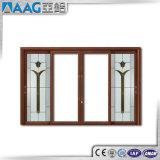 Doppia finestra di scivolamento di alluminio di vetro di alta qualità con il disegno della griglia
