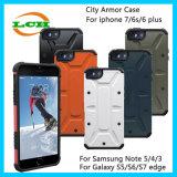 Cajas protectoras del teléfono de la armadura de Camo de la ciudad para el iPhone 7/6/6s más