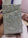 창조적인 스테인리스 명함 홀더 모조 다이아몬드 다이아몬드 수정같은 모조 다이아몬드 풀 명함통 (TC 장방형)