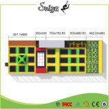 Tremplin bon marché de construction de corps de tremplin de rectangle avec la piqûre de mousse pour des enfants