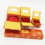 Caixa de embalagem gravada do bracelete da pulseira do pendente do anel da impressão (J10-E2)