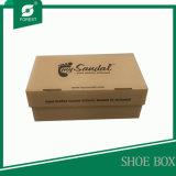 Caixa de empacotamento da sapata ondulada aberta fácil da dobradura
