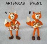 Счастливый Fox -2asst мальчика & девушки ватки хлебоуборки