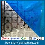 Hoja de metal revestida Titanium del acero inoxidable de la aguafuerte