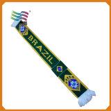 Bufanda larga de encargo del telar jacquar para los fanáticos del fútbol