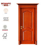 Porte d'entrée classique d'avant en bois solide de pièce de bois de construction (GSP2-044)