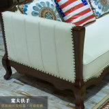 Moderne Freizeit-echtes Leder-geschnittensofa für Wohnzimmer-Möbel As845