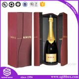 High - End Wine Packaging Handle Lock PU Leather Box