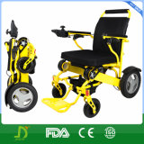 Sillón de ruedas eléctrico de aluminio Handicapped ultra ligero con la batería de litio