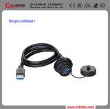 Het Merk OpenluchtUSB Van uitstekende kwaliteit van Cnlinko aan de Stop en de Contactdoos van de Schakelaar van de Schakelaars USB van de Kabel van Gegevens