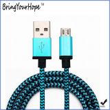 Зарядный кабель USB экрана ткани Braided для мобильного телефона